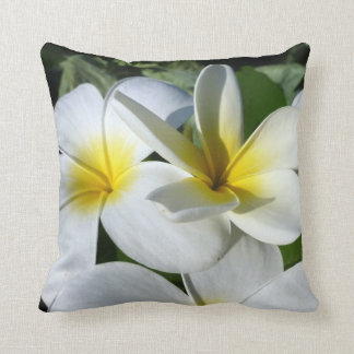 ti plant flowers yellow white pillow