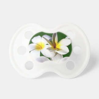 ti plant flowers yellow white green back baby pacifier