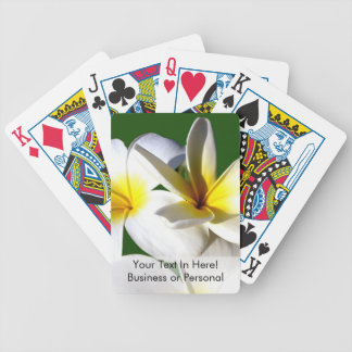 ti plant flowers yellow white green back playing cards
