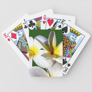ti plant flowers yellow white green back bicycle playing cards