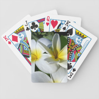 ti plant flowers yellow white bicycle card deck
