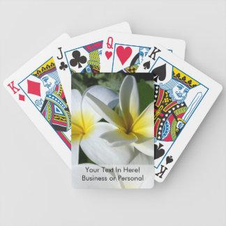 ti plant flowers yellow white bicycle poker deck