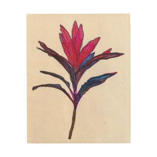 Ti plant wall art