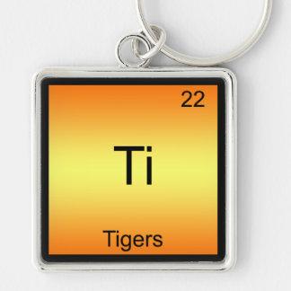 Ti - Tigers Funny Chemistry Element Symbol T-Shirt Keychain