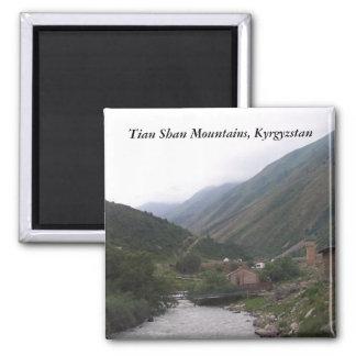 Tian Shan Mountains, Kyrgyzstan Square Magnet