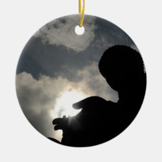 Tian Tan Buddha with sun in hand Christmas Ornament