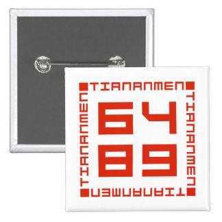 Tiananmen Square 6/4/1989 15 Cm Square Badge