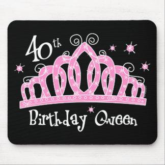 Tiara 40th Birthday Queen DK Mousepad