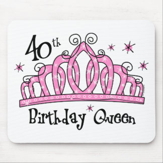 Tiara 40th Birthday Queen LT Mouse Pads