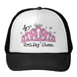 Tiara 40th Birthday Queen LT Trucker Hat
