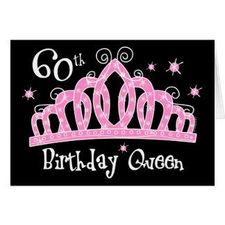 Tiara 60th Birthday Queen DK Greeting Cards