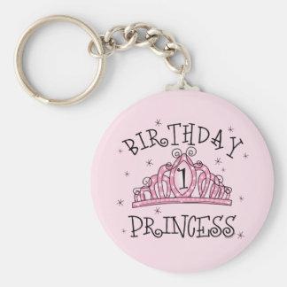 Tiara Birthday Princess 1st Birthday Basic Round Button Key Ring