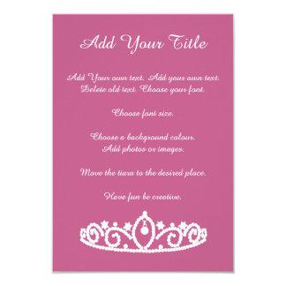 Tiara Pink and White Sweet Sixteen 16 Invitation