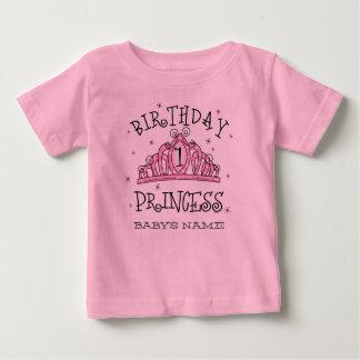Tiara Princess 1st Birthday Custom Baby T-Shirt