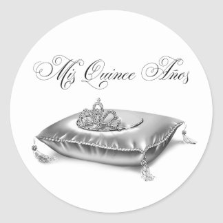 Tiara Princess Quinceanera Stickers