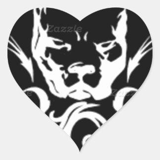 Tibal Stud Heart Sticker