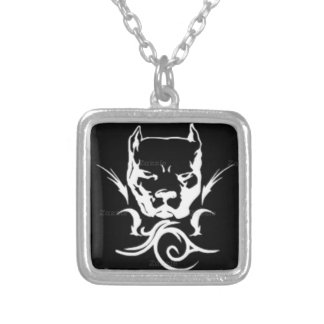 Tibal Stud Silver Plated Necklace