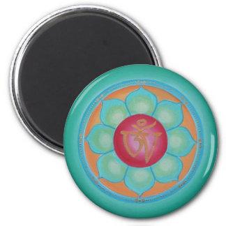 Tibatan Lotus 6 Cm Round Magnet
