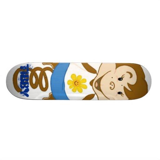Tibby Blue Skate Deck
