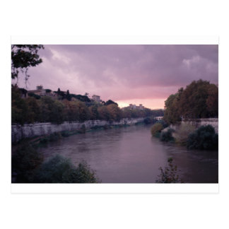 Tiber River at Sunset.png Postcard