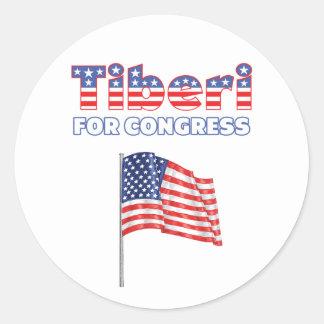 Tiberi for Congress Patriotic American Flag Stickers