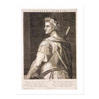 Tiberius Caesar (10 BC - 54 AD) Emperor of Rome 14 Postcard
