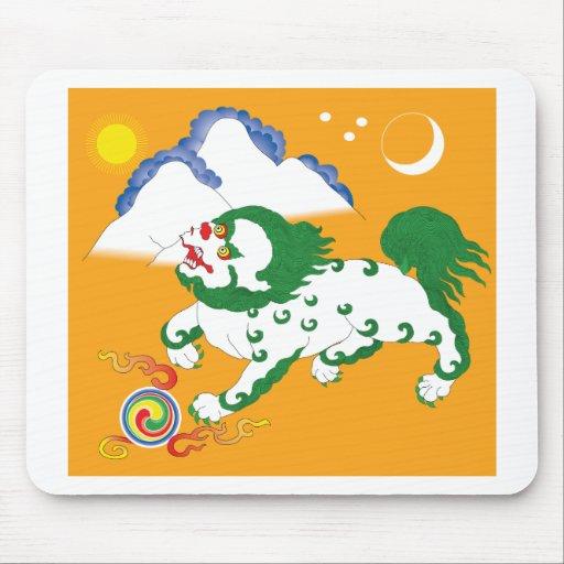 Tibet Flag (1920-1925) Mousepad