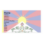 Tibet Flag Double-Sided Standard Business Cards (Pack Of 100)