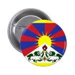 Tibet Flag Button