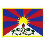 Tibet Flag Card