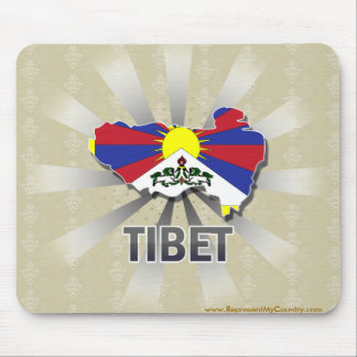Tibet Flag Map 2.0 Mouse Pad