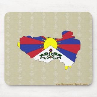 Tibet Flag Map full size Mouse Pad