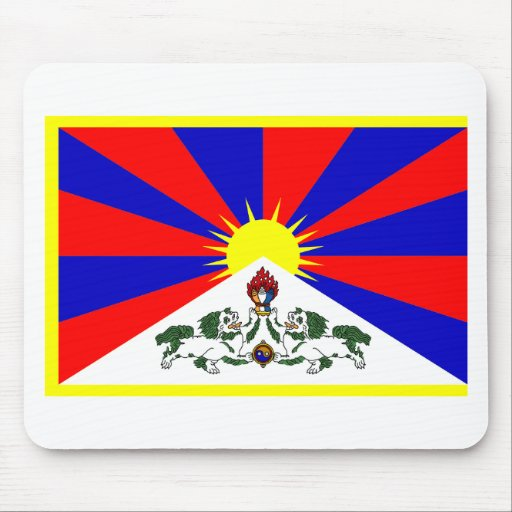 Tibet Flag Mouse Pads