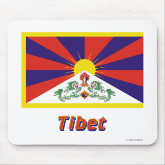 Tibet Flag with Name Mouse Pad