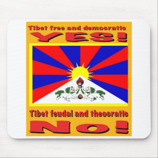 Tibet free and democratic mouse pad