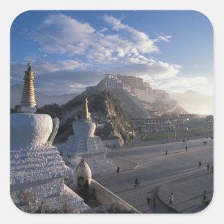 Tibet - Lhasa. Potala at sunrise Square Sticker