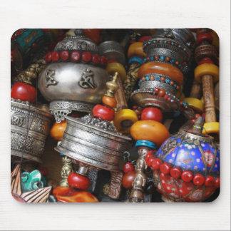 Tibet Prayer Wheels Mouse Mat