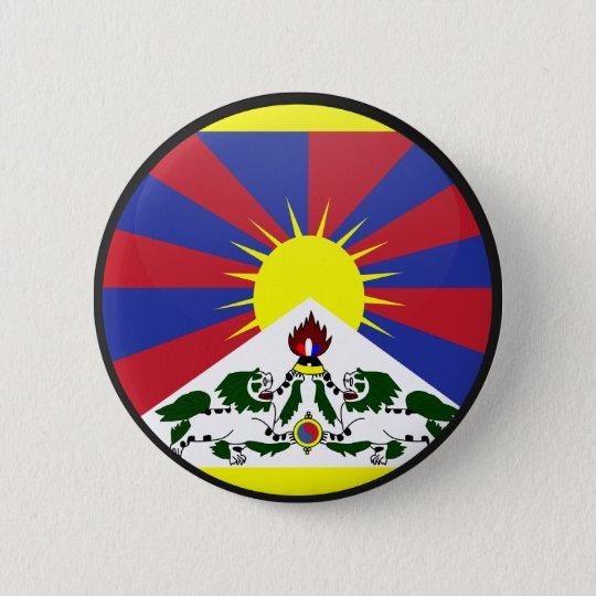 Tibet quality Flag Circle 6 Cm Round Badge