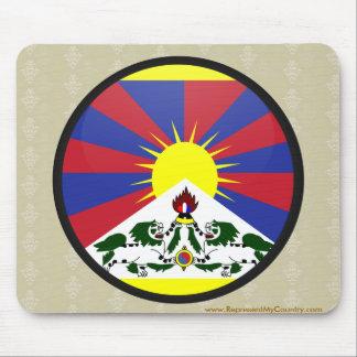 Tibet quality Flag Circle Mouse Pad