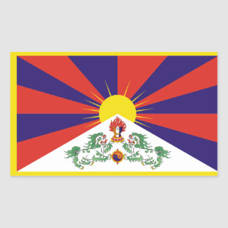 Tibet/Tibetan Flag Rectangular Sticker