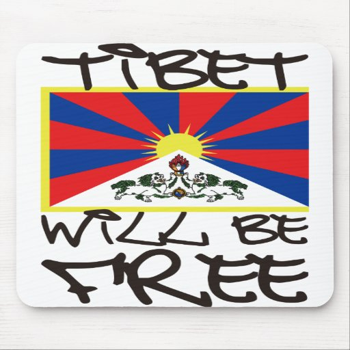 TIBET WILL BE FREE MOUSE MATS
