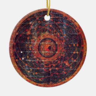 Tibetan astronomical Thangka Christmas Ornament
