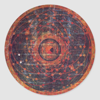 Tibetan astronomical Thangka Round Sticker