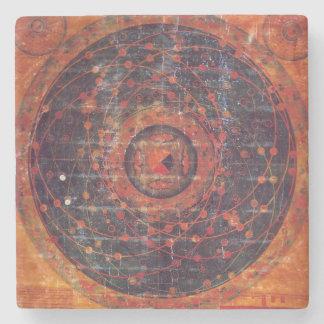Tibetan Astronomical Thangka Stone Beverage Coaster