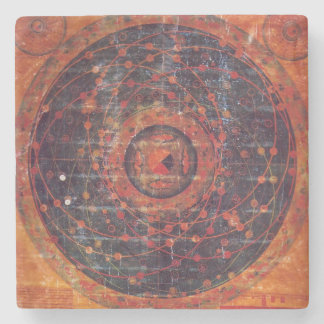 Tibetan Astronomical Thangka Stone Coaster