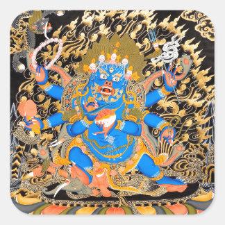 Tibetan Buddhist Art Print Square Sticker