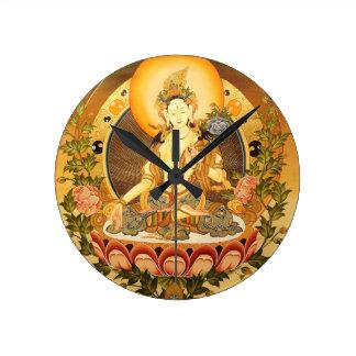 Tibetan Buddhist Art Round Clock