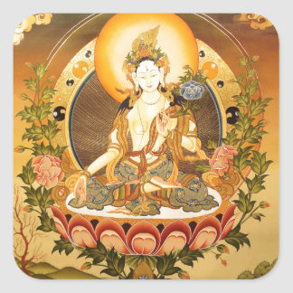Tibetan Buddhist Art Square Stickers