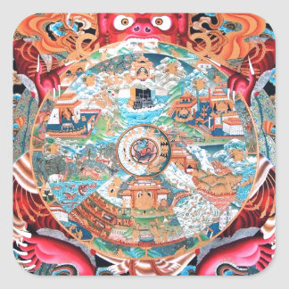 Tibetan Buddhist Art (Wheel of Life) Sticker