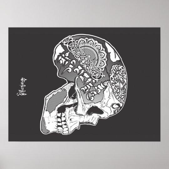 Tibetan Engraved Skull Poster